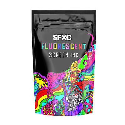 SFXC Day Glow Fluorescent Screen Printing Ink Paint  - Super Glow