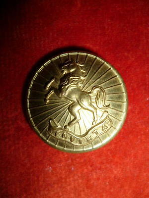"""Kent Cyclists / West Kent Yeomanry Officer's Gilt Button, 1"""" Dia."""