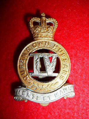 The 4th Queen's Own Hussars QC Cap Badge, British Army