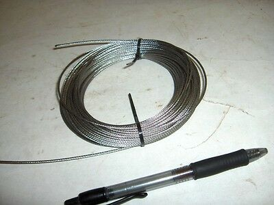 """1/16"""" 1/8"""" Stainless Steel 7 x 7 Aircraft Cable Wire Rope 25' 50' 100'"""