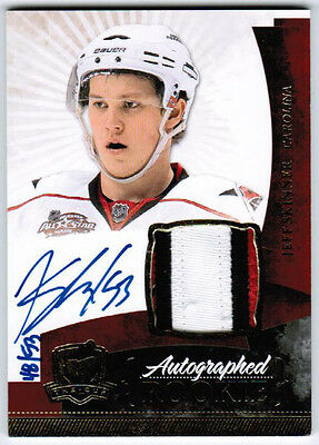 2010 11 Ud Upper Deck The Cup Jeff Skinner Rc Rookie Auto Patch Gold /53 3 Clrs