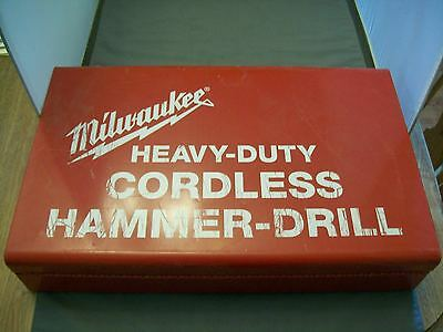 "Miwaukee Model 0420-1 Cordless 3/8"" Hammer Drill W/Metal Case"