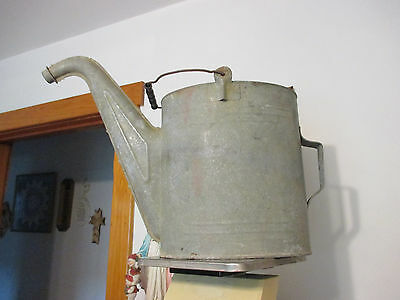Vintage Galvanized Radiator Watering Can Extra long pour spout Large Size can