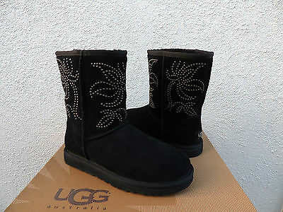 ef029609725 UGG BLACK CLASSIC Knot Suede/ Sheepskin Boots, Womens Us 7/ Eur 38 ...