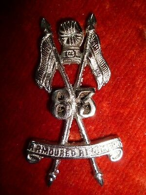 83rd Armoured Regiment Cap Badge - Indian Army