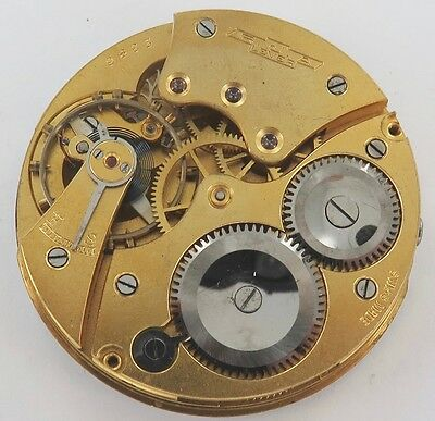 Superb Vintage Rja Lever Pocket Watch Movement & Dial, Working Order. Scarce !!!