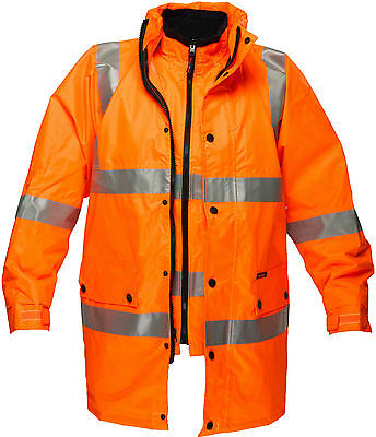 4  In 1 Winter Safety Jacket 3M Taped