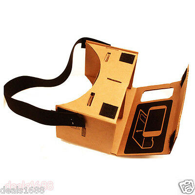 For iPhone Google Cardboard Valencia Quality VR 3D Virtual Reality Video Glasses