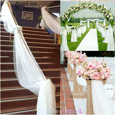 4.5mx50cm  Table Chair Swags Sheer Organza Fabric DIY Wedding Party Decoration