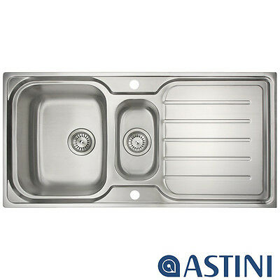 Astini Magnum 1.5 Bowl Brushed Stainless Steel Kitchen Sink & Waste AS1021