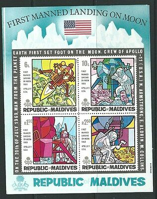 Maldive Islands Sgms309 1969 First Man On The Moon  Mnh