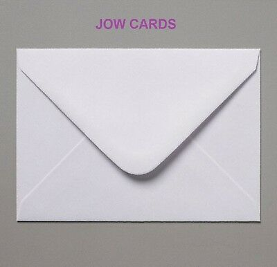1000 White C6 / for A6 Cards Dia. Flap Envelopes 100gsm