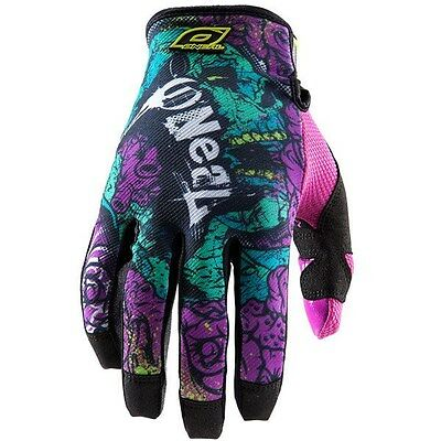 ONEAL O'NEAL JUMP motocross gloves ZOMBIE NEON adult sz 11 XL  MX ATV  0385-931