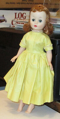 Old Vintage Vogue Jill Yellow Tagged Doll Dress
