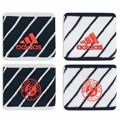 adidas Official Roland Garros Wristbands Sweatbands Tennis Sport Gym Fitness Run