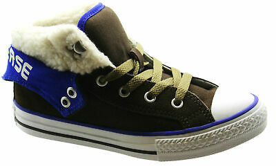 Converse Chuck Taylor CT PC2 Mid Brown Suede Kids Youths Trainers 341795C P1