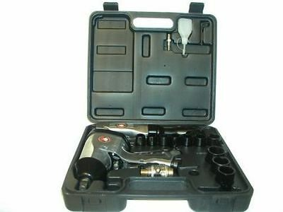 NEW 17pc Air Impact Ratchet Wrench Kit tool lubricator