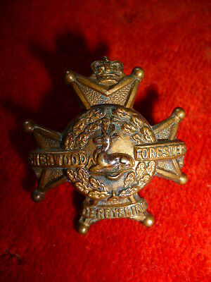 The Derbyshire Regiment (Sherwood Foresters) QVC Collar Badge