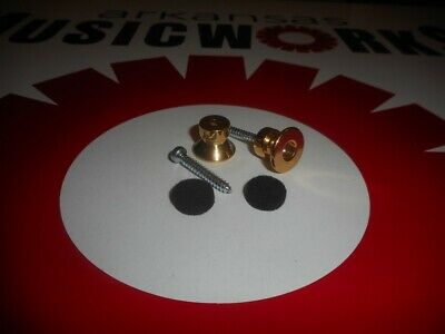 NEW - Buttons For Dunlop Traditional Strap Lock System - GOLD