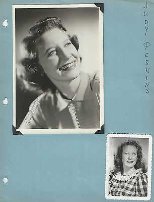 Judy Perkins Scrapbook Page Signed - Grand Ole Opry Scrapbook Collection