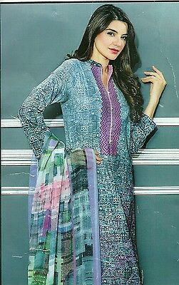 Ladies Shalwar Kameez Pakistani Indian Cotton Lawn Ready made or Unstitched Suit