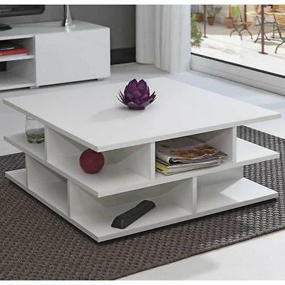 Table basse - Table Basse Multicases Blanc