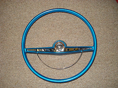 1963 63 Chevrolet Impala Ss Coupe Convertible Steering Wheel Restored Blue