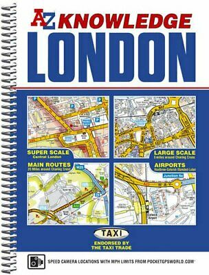 London Knowledge Atlas by Geographers A-Z Map Company Spiral bound Book The