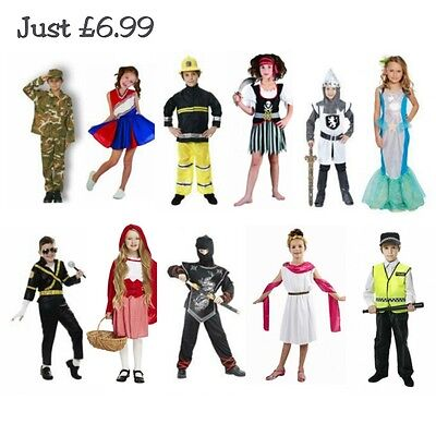 Childrens Fancy Dress Costume Dressing Up Halloween Outfit Boys Girls Kids Child