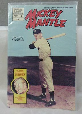 MINT SEALED 1991 MICKEY MANTLE #1 COMIC BOOK Mickey Mantle & Sibby Sisti CARDS
