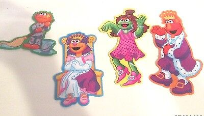 """LOT OF 4 Sesame Street ELMO Full Figure 4-6"""" Tall Fabric patches"""