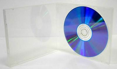 200  10mm Single CD Poly Case w/Sleeve - Clear , M-Lock