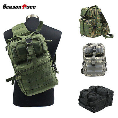 Outdoor Tactical Molle Rucksack Messenger Assault Sling Shoulder Bag Backpack