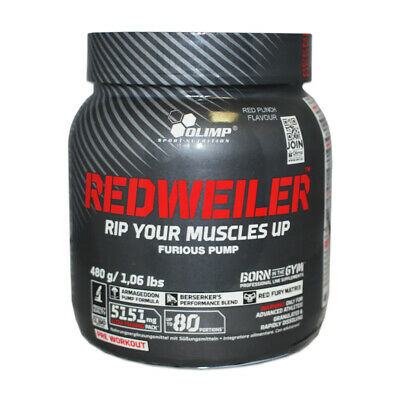 (61,44 Eur/kg) Olimp Redweiler 480g Powder Pre Workout Booster Trainingsbooster