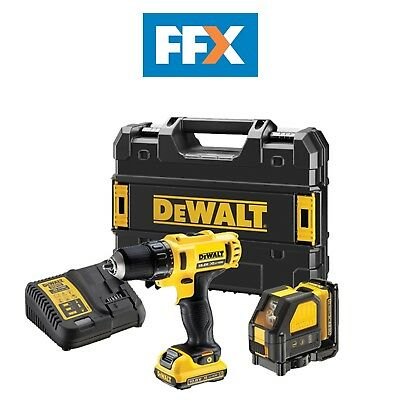 DeWalt DCK215D2T 10.8v Drill Driver and DW088 Cross Line Laser Kit
