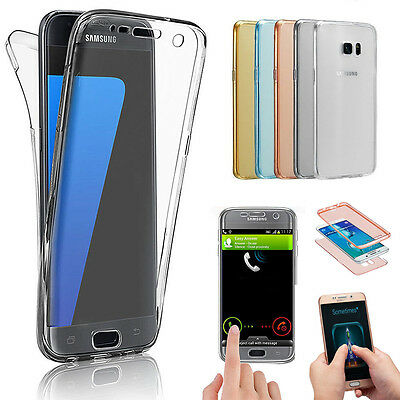 Front+Back Silicone 360° Screen Protector Clear Case Cover For Samsung & iPhone