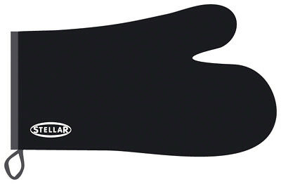 Stellar Black Cooking Thermal Resistant Oven Glove Mitt 31 cms