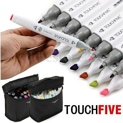 40 Color TouchFive Alcohol Graphic Art Twin Tip Pen Marker Broad Fine Point HOT