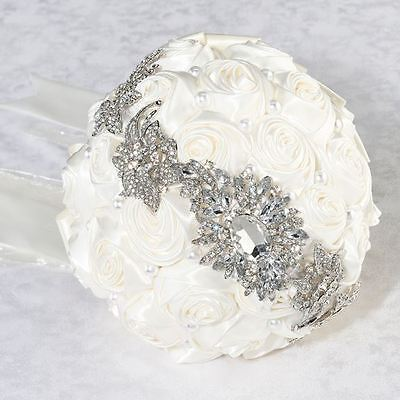 Pearl & Rhinestone Wedding Ceremony Bridal Flower Bouquets