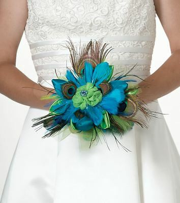 Peacock Wedding Ceremony Bridal Flower Bouquets