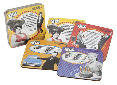 Viz Top Tips Coffee Mug Cup Coasters Mats Set Of 4 New In Pvc Box