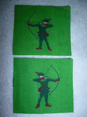 North Midland District Printed Formation Patch Pair (Robin Hood) WW2 - UK