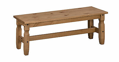 "Mercers Furniture® Corona Mexican Pine 4'0"" Dining Bench"