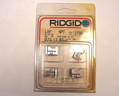 "NOS RIDGID 12-R HSS 1/8"" NPT Stainless PIPE DIE  DROP HEAD THREADERS #37900"