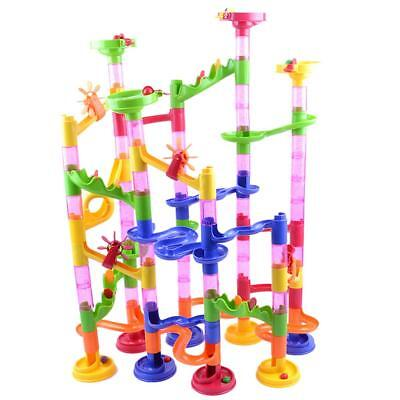 105 Piece Marble Run Construction Maze Race Track Building Toy Game Set Fun