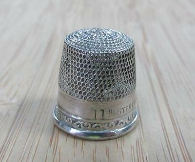 Sterling Silver Vintage #11 Thimble ~ 2.1 grams ~ 4-A7127