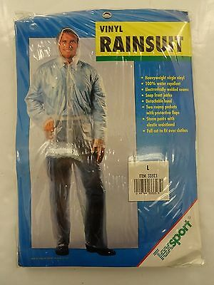 New In Package - Texsport Men's Large Vinyl Rainsuit Item# 33323 - Clear