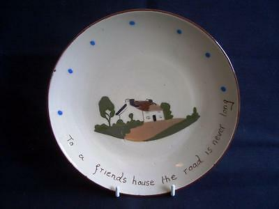 Motto Ware Plate 'To A Friends House The Road Is Never Long' Longpark?