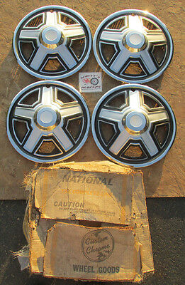 "1970's-80's, 90's Travel Trailer, Camper 14"" Universal Wheel Covers, Hubcaps ~4~"