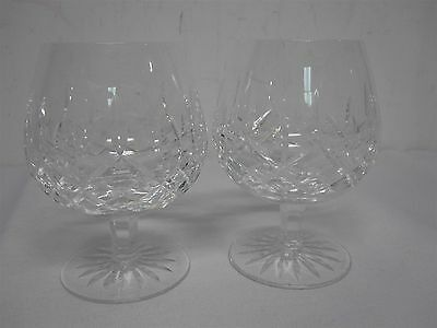 """2 Waterford Lismore 5 1/4"""" Brandy Glasses ~ Excellent Condition"""